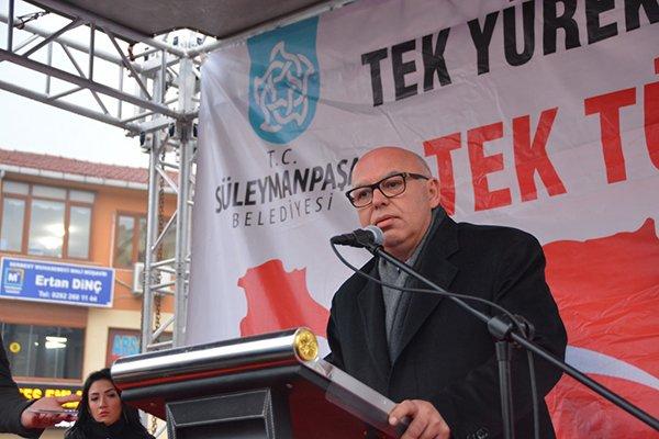 """Başkan Eşkinat'tan Beşiktaş'taki terör saldırılarına net mesaj: """"Korkmuyoruz"""""""
