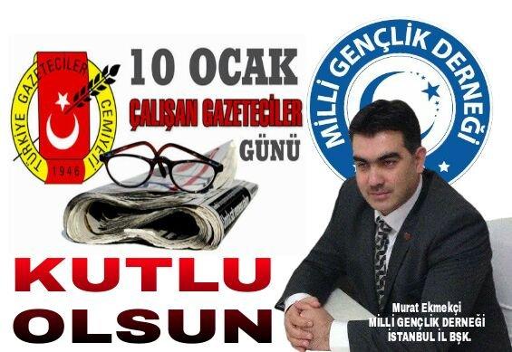Milli Gençlik Derneği Murat Ekmekçi'de Çalışan Gazeteciler gününü kutladı